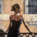 Fabian Perez Limited Edition Giclee on Canvas Balcony At Buenos Aires III