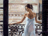 Fabian Perez Limited Edition Giclee on Canvas Balcony At Buenos Aires I
