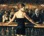 Fabian Perez Limited Edition Giclee on Canvas The Bartender