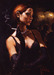 Fabian Perez Limited Edition Giclee on Canvas Black Gloves