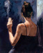 Fabian Perez Limited Edition Giclee on Canvas Brunette