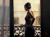 Fabian Perez Limited Edition Giclee on Canvas Balcony at Buenos Aires IX