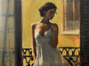 Fabian Perez Limited Edition Giclee on Canvas Balcony at Buenos Aires XI
