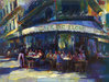 City Impressionism Originals and Prints Limited Edition Giclee on Canvas Cafe de Flore