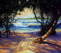 Jim Warren Fine Art Limited Edition Giclee on Canvas Caribbean View