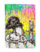Tom Everhart Limited Edition Mixed Media on Paper Coconut Bouffant