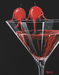 Godard Martini Art Limited Edition Giclee on Canvas Cosmo In Love (17.5 x 22)