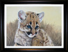 Jacquie Vaux Original Water Color Cougar Cub