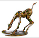Nano Art Bronze Sculpture Curioso (horse and turtle)