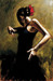 perez tango Limited Edition Giclee on Canvas Dancer In Black