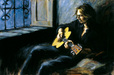 Fabian Perez Limited Edition Giclee on Canvas Dream in a Dream