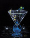 Godard Martini Art Limited Edition Giclee on Canvas Dry Martini With a Twist (17.5 x 22)