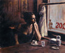 Fabian Perez Limited Edition Giclee on Canvas El Federal Cafe III
