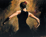 perez tango Limited Edition Giclee on Canvas Flamenco III
