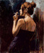 Fabian Perez Limited Edition Giclee on Canvas Full Moon Empty Heart