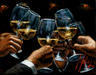 Fabian Perez Limited Edition Giclee on Canvas For A Better Life: White Wine with Reflections