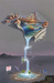 Godard Martini Art Limited Edition Giclee on Canvas Fountain of Youth (28 x 35)
