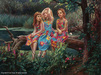 Cao Yong Limited Edition Giclee on Canvas Friends