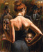 Fabian Perez Limited Edition Giclee on Canvas Girl With Red Hair
