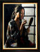 Fabian Perez Limited Edition Giclee on Canvas Geisha with Mirror