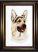 Jacquie Vaux Original Water Color German Shepherd