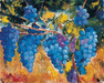 William Kelley Limited Edition Giclee on Canvas L'Uve (Grapes)