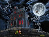 Godard Martini Art Limited Edition Giclee on Canvas Halloween (17.5 x 23.5)