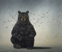 Robert Bissell Limited Edition Giclee on Canvas Hero II - Bear (50 x 60)