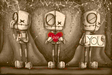 Fabio Napoleoni Limited Edition Giclee on Paper I Love You Sepia SN #1