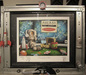 Fabio Napoleoni Limited Edition Giclee on Paper Space Age Custom Frame