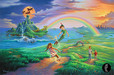 Jim Warren Fine Art Limited Edition Giclee on Canvas If Only You Believe - Peter Pan