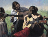 Fabian Perez Limited Edition Giclee on Canvas Juerga Al Sol