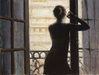 Fabian Perez Limited Edition Giclee on Canvas Lettizia At the Brown Window