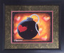 Fabio Napoleoni Fine Art Giclee on Paper Love Bomb - Mini Print Framed