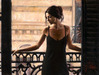Fabian Perez Limited Edition Giclee on Canvas Luciana at the Balcony