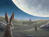 Robert Bissell Original Oil on Board Lunar Trance