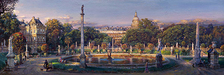 Cao Yong Limited Edition Giclee on Canvas The Luxembourg Garden