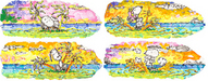 Tom Everhart Limited Edition Giclee on Paper Motu Homies - Suite (4 Artworks)
