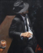 Fabian Perez Limited Edition Giclee on Canvas Man in Black Suit II