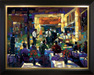 Michael Flohr Artist Limited Edition Giclee on Canvas Martinis and Jazz