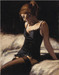 Fabian Perez Limited Edition Giclee on Canvas Medias Negras IV