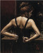 Fabian Perez Limited Edition Giclee on Canvas Medias Negras VI