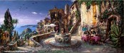 Cao Yong Limited Edition Giclee on Canvas Mediterranean Sunrise