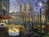 James Coleman Limited Edition Giclee on Canvas Moonlight in Venice