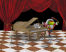 Godard Martini Art Limited Edition Giclee on Canvas Mozartini (17.5 x 22)