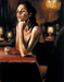 Fabian Perez Limited Edition Giclee on Canvas Natalia at Las Brujas