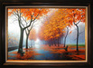 Alexei Butirskiy Limited Edition Giclee on Canvas Autumn Leaves