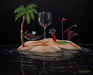 Godard Martini Art Limited Edition Giclee on Canvas Paradise at Last (17.5 x 22)