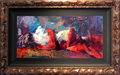 Henry Asencio Original Oil on Canvas Passionate (Original) Framed