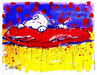 Tom Everhart Limited Edition Lithograph Pig Out - Captain Day Dreamer (AP)